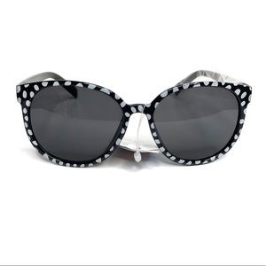Black with White Polka Dotted Design Sunglasses